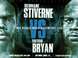 Bermane Stiverine vs Trevor Bryan Start time and Venue
