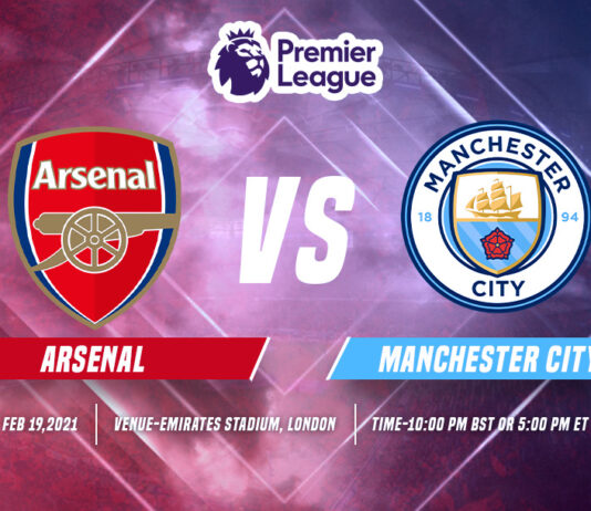Arsenal vs Manchester City time, date and Venue