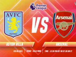 Aston Villa vs Arsenal Time, date and Venue