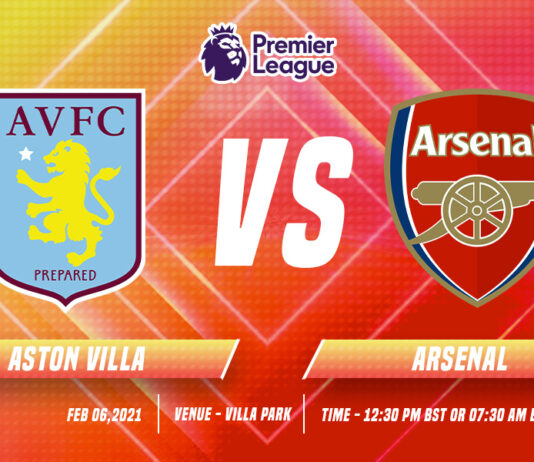 Aston Villa vs Arsenal Time, date and Venue