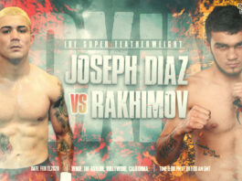 Diaz vs Rakhimov time, date and venue