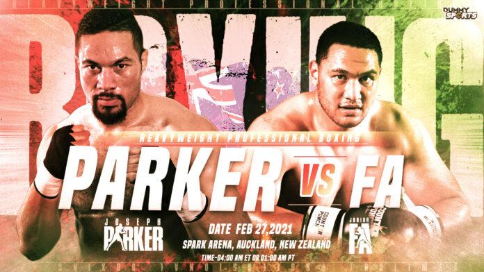 Joseph Parker VS Junior Fa time, date and venue