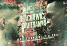 Blachowicz VS Adesanya time, date and venue