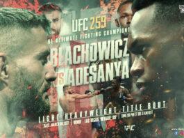 Blachowicz VS Adesanya time, date and venue