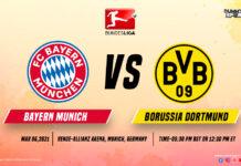 Bayern Munich VS Dortmund time, date and venue